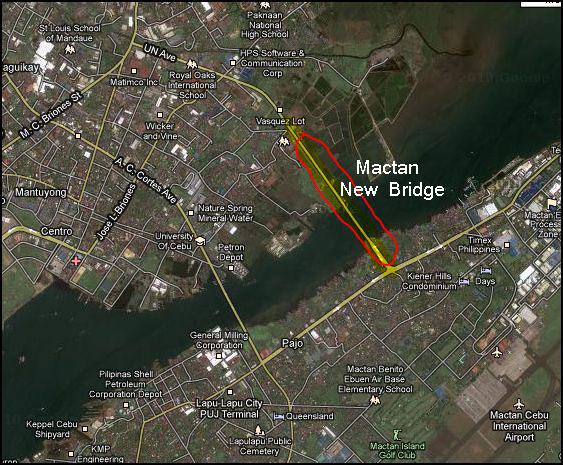 Cebu lapu-lapu mactan map bridge