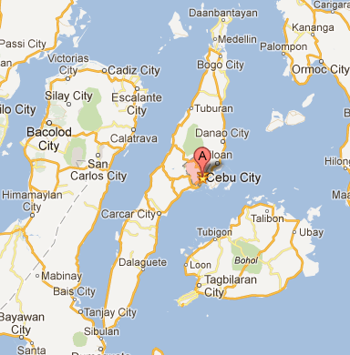 Cebu City Island Map