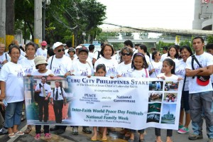Cebu Inter-Faith Walk for Peace-Cebu CIty Stake The Church of Jesus Christ of Latter-day Saints