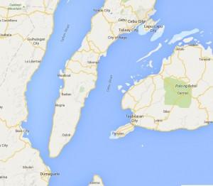 Cebu Oslob Map Road
