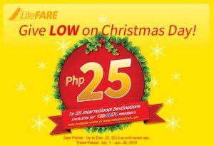 Chritmas Promo Cebu Pacific Air