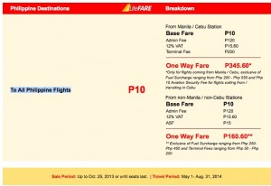 International Promo flight Philippines
