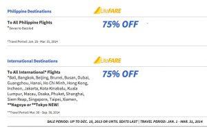 75% Cebu Pacific Air Promo