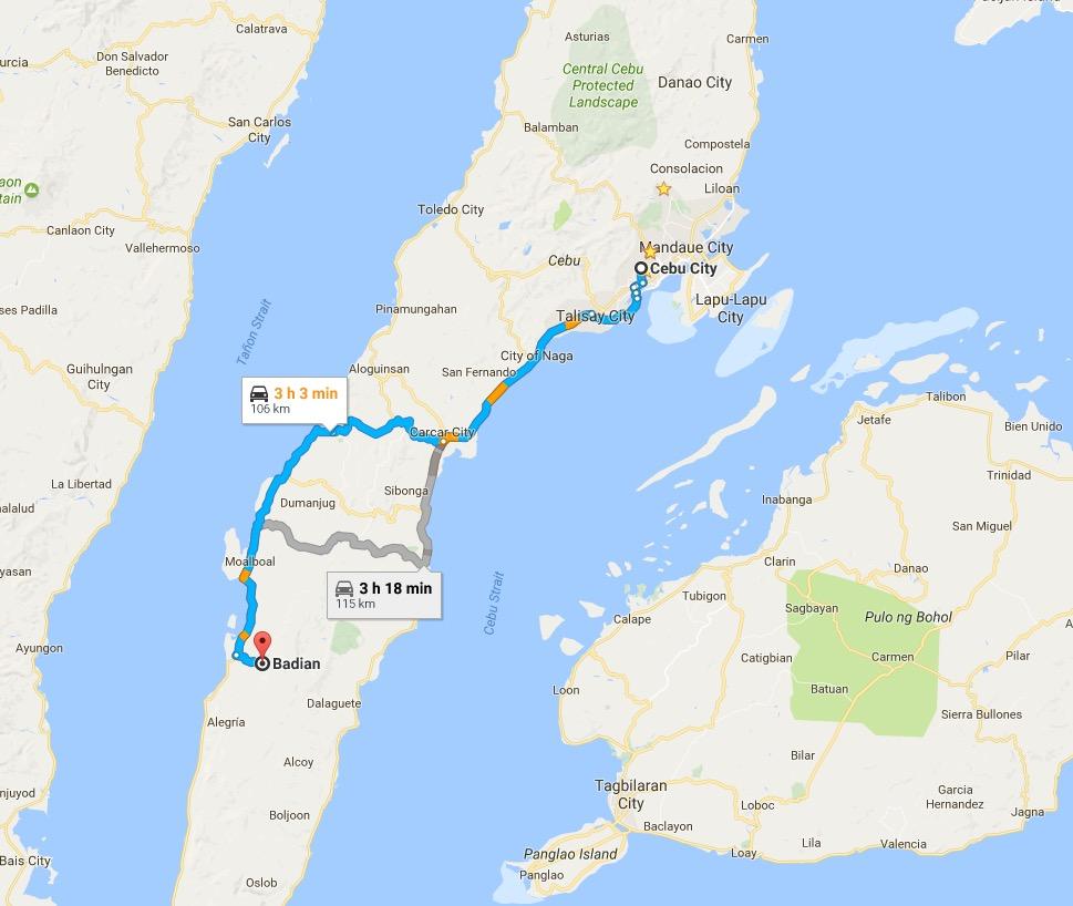 Cebu Badian Canyoneering Cebu City Tour